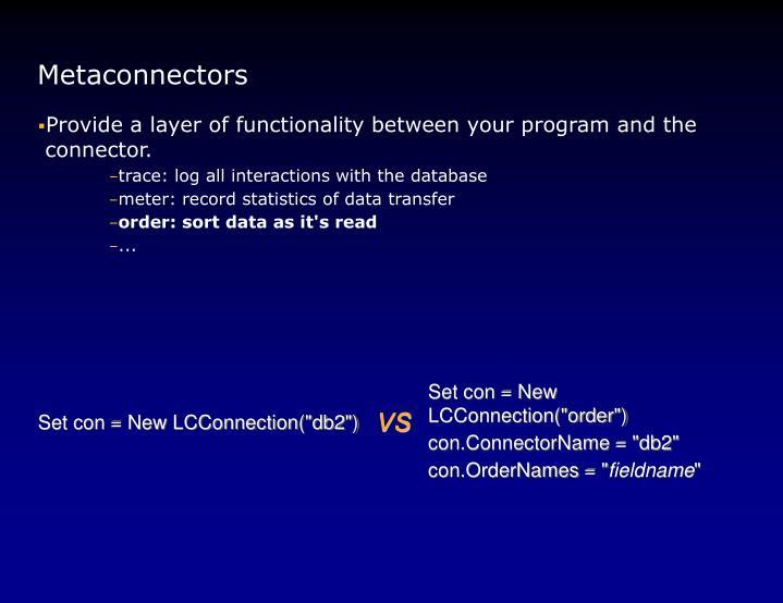 Metaconnectors