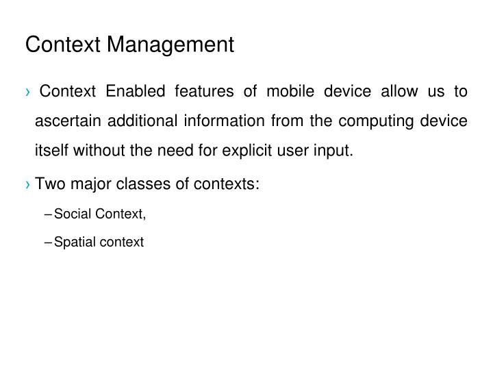 Context Management