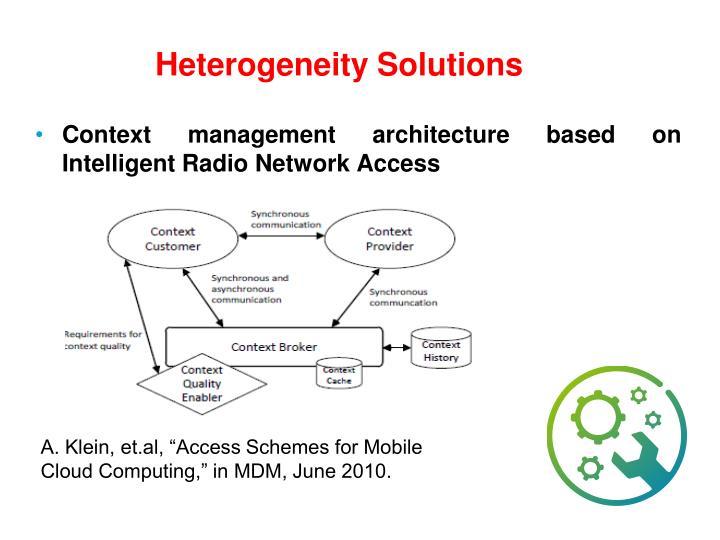 Heterogeneity Solutions