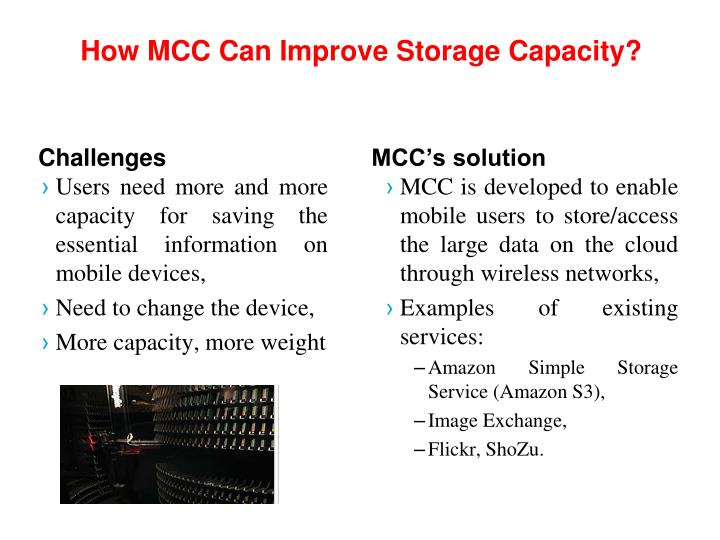How MCC Can Improve Storage Capacity?
