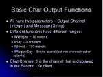 basic chat output functions