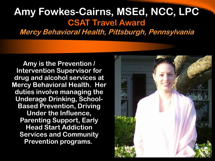 Amy Fowkes-Cairns, MSEd, NCC, LPC
