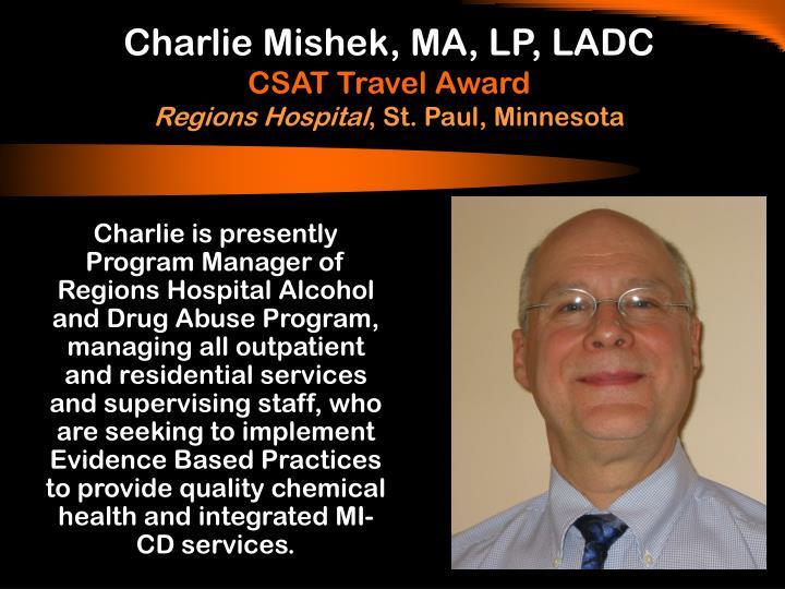 Charlie Mishek, MA, LP, LADC