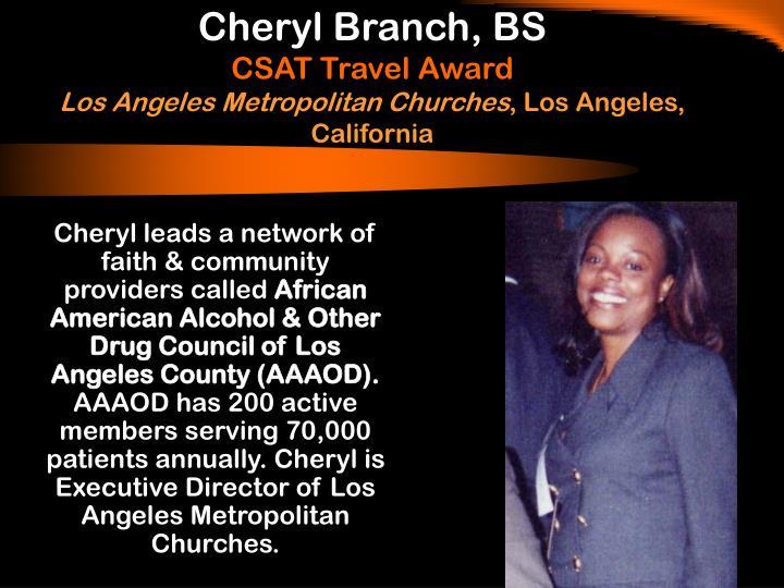Cheryl Branch, BS
