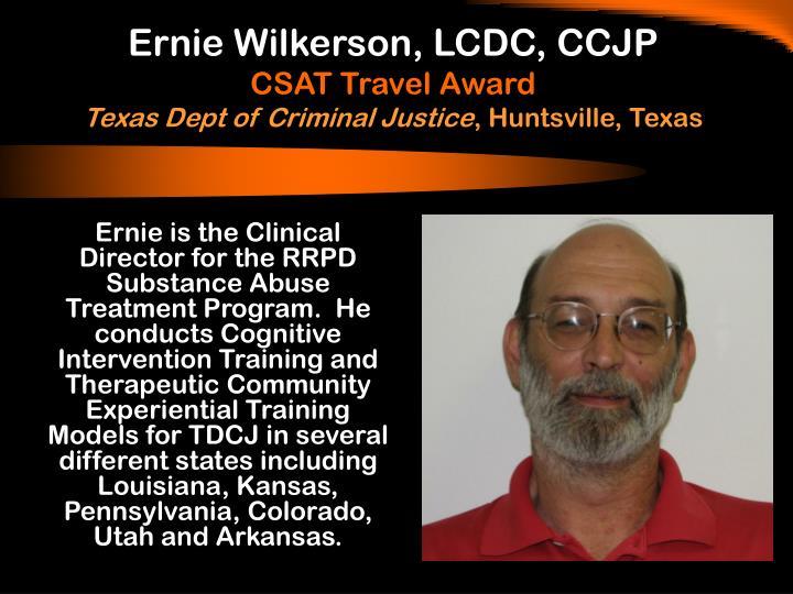 Ernie Wilkerson, LCDC, CCJP
