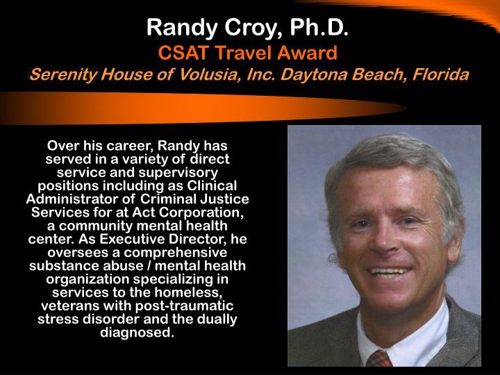 Randy Croy, Ph.D.