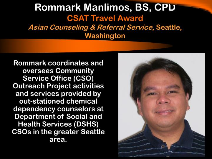 Rommark Manlimos, BS, CPD