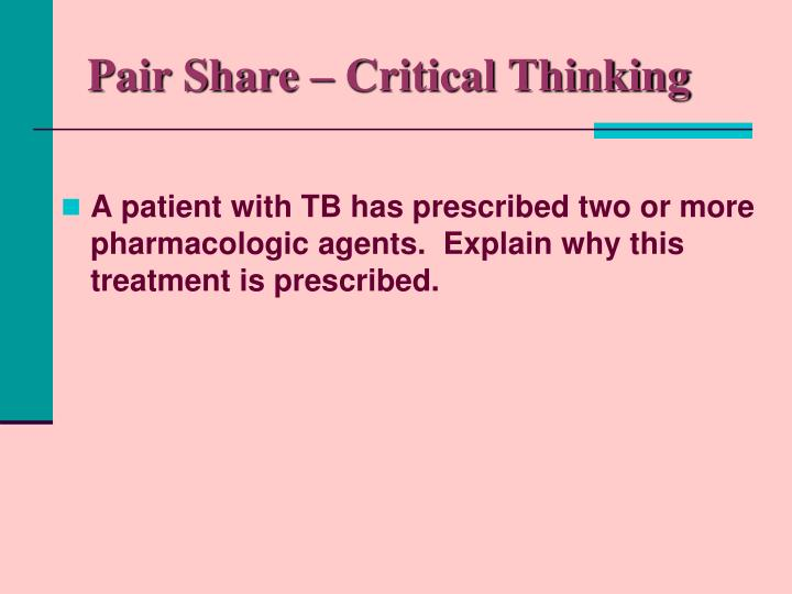 Pair Share – Critical Thinking