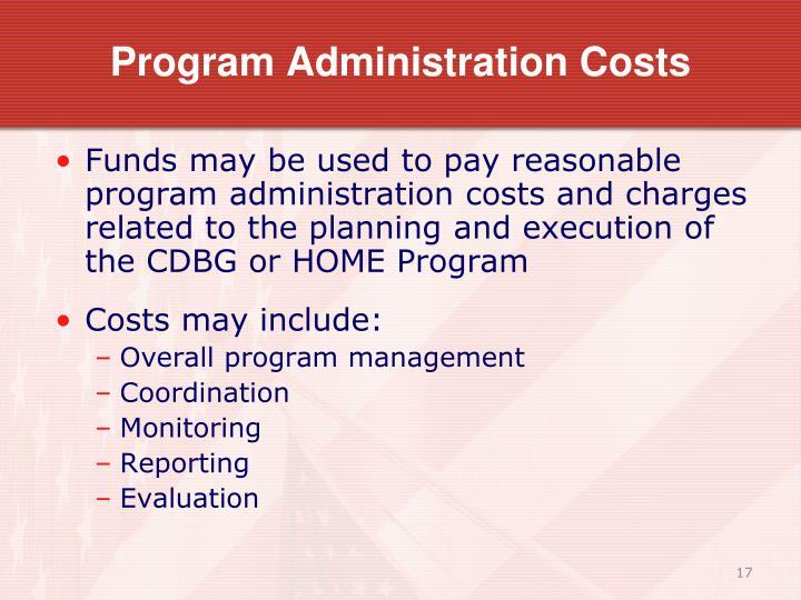 Program Administration Costs