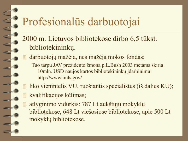 Profesionalūs darbuotojai