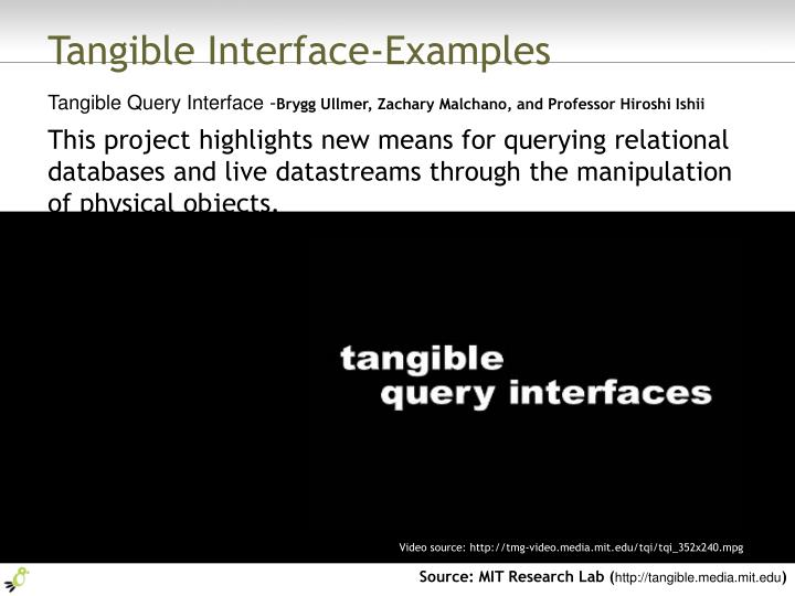 Tangible Interface-Examples