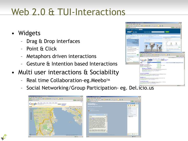 Web 2.0 & TUI-Interactions