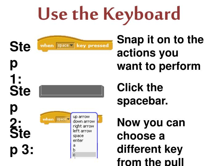 Use the Keyboard