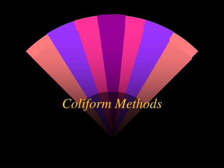 Coliform Methods