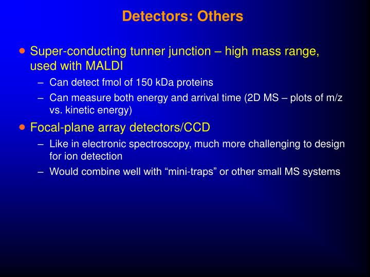 Detectors: Others
