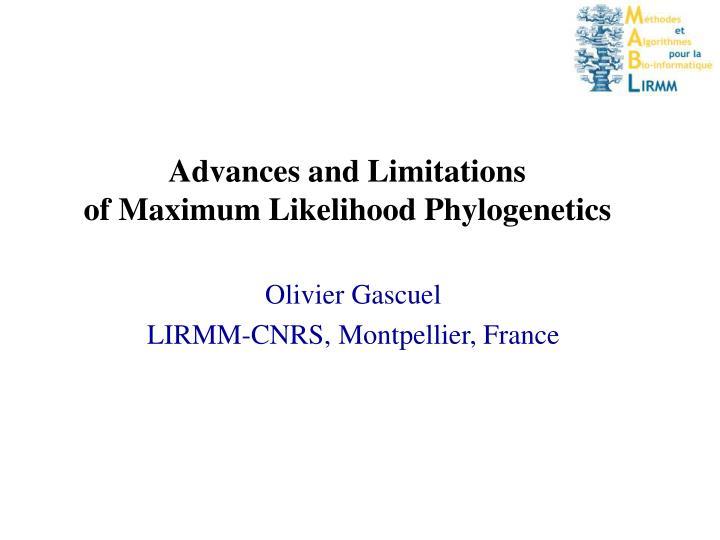 Advances and Limitations