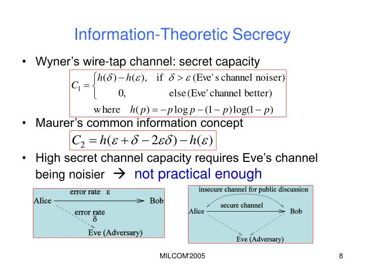 Information-Theoretic Secrecy