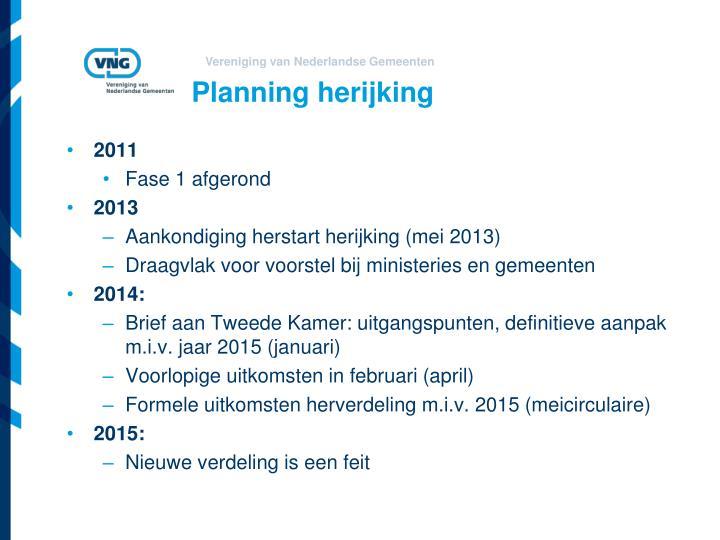 Planning herijking