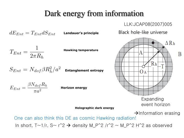 Dark energy from information