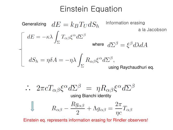 Einstein Equation