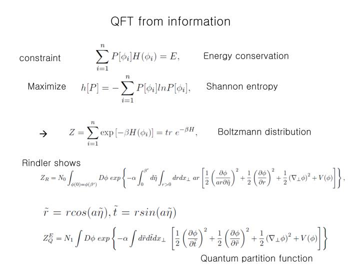 QFT from information