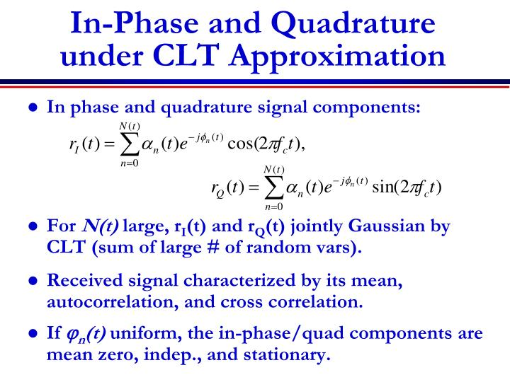In-Phase and Quadrature