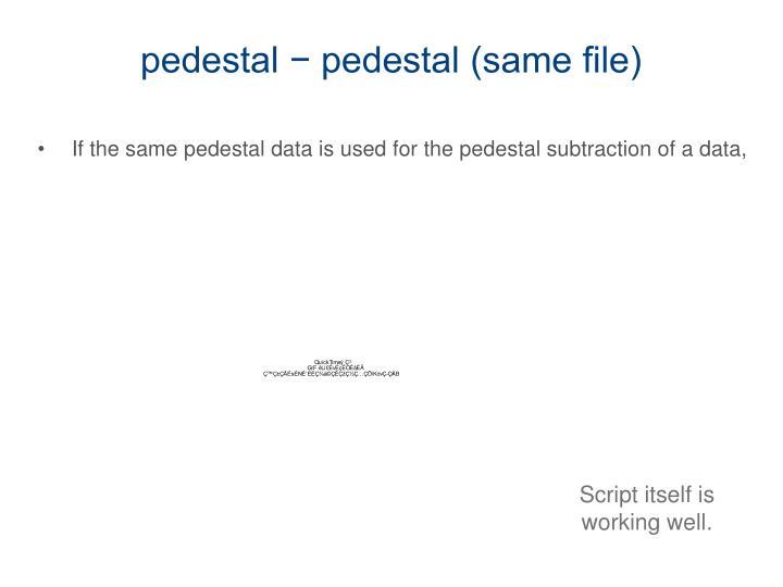 pedestal − pedestal (same file)