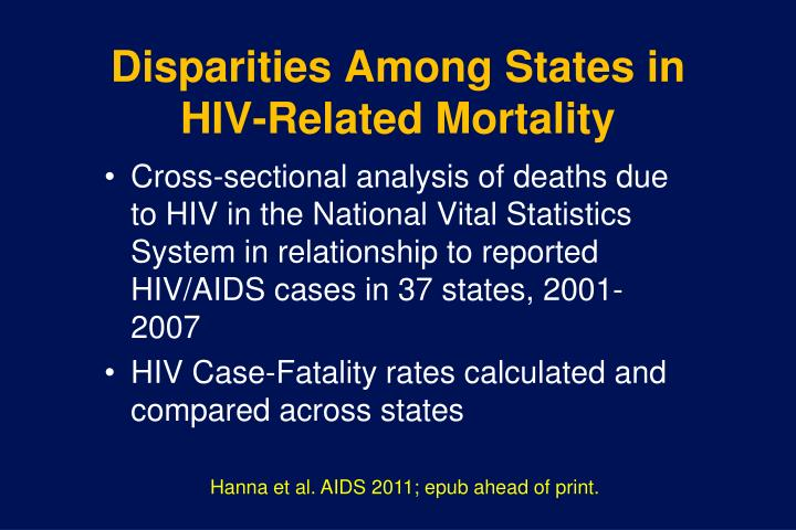 Disparities Among States in HIV-Related Mortality