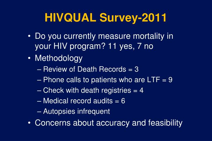 HIVQUAL Survey-2011