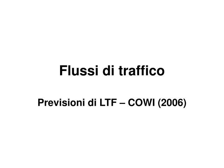 flussi di traffico