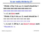 is asr really divide by 2