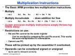 multiplication instructions