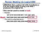 review masking via logical and