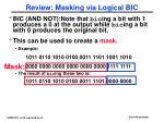 review masking via logical bic