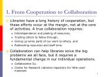 1 from cooperation to collaboration