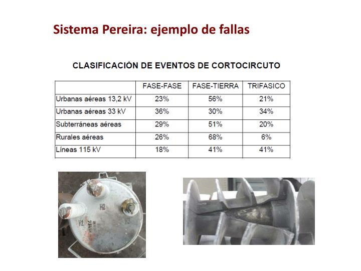 Sistema Pereira: ejemplo de fallas