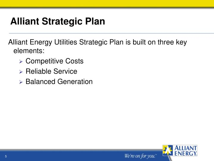 Alliant Strategic Plan