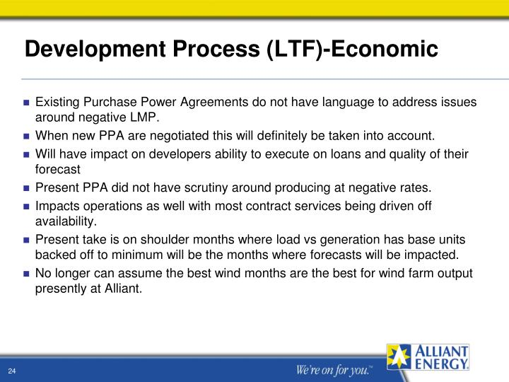 Development Process (LTF)-Economic