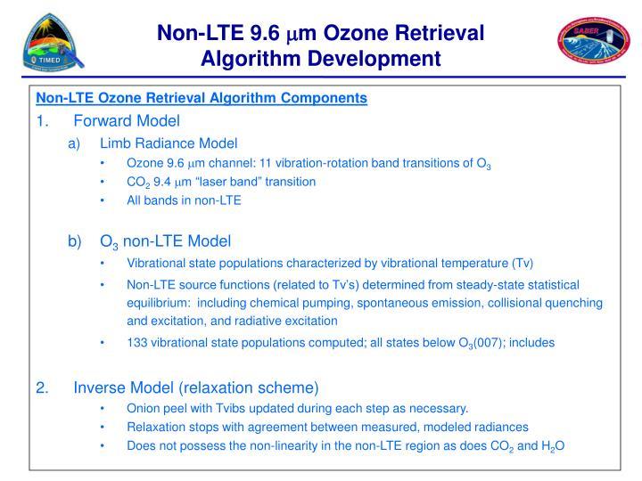 Non-LTE 9.6