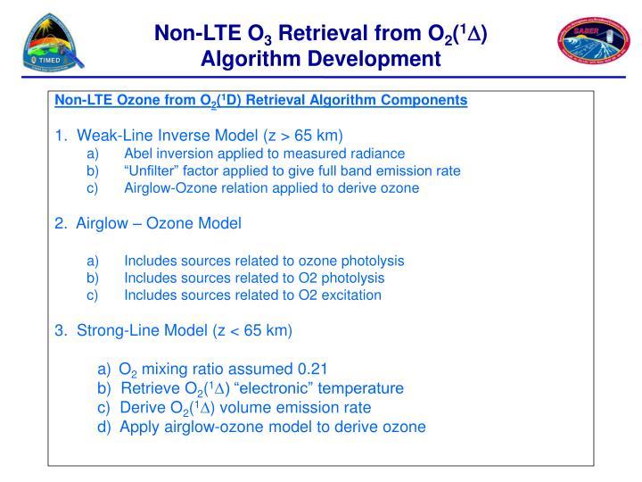 Non-LTE Ozone from O