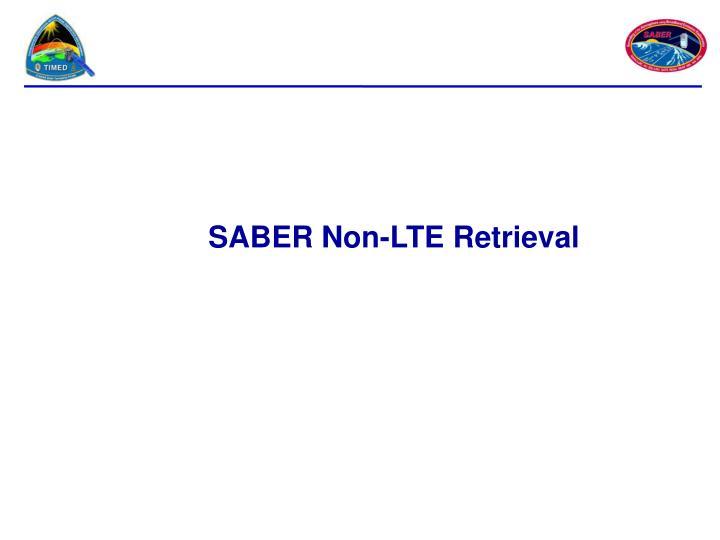 SABER Non-LTE Retrieval