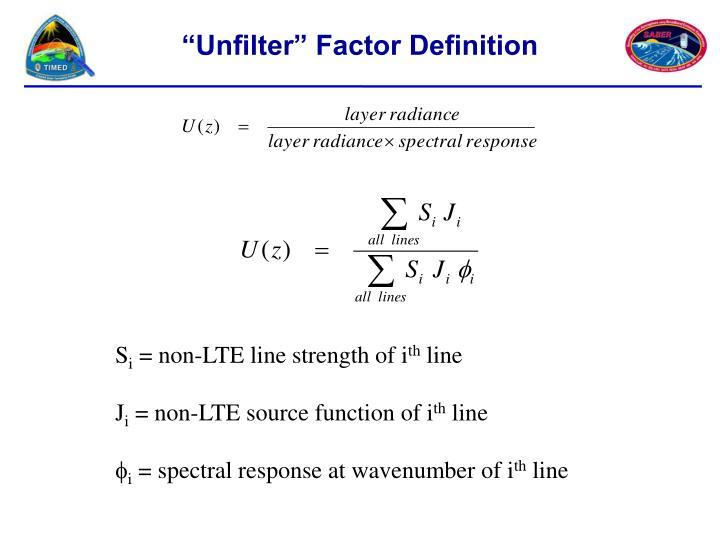 """Unfilter"" Factor Definition"