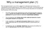 why a management plan 1