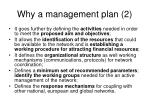 why a management plan 2