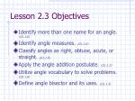lesson 2 3 objectives