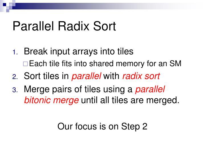 Parallel Radix Sort