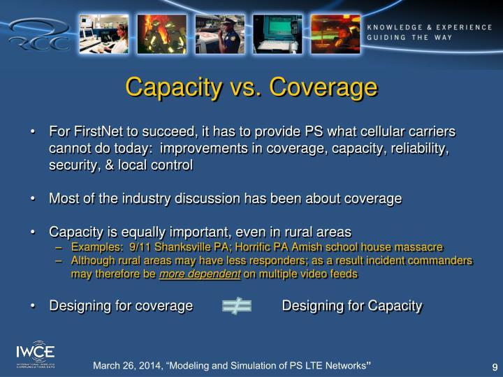Capacity vs. Coverage