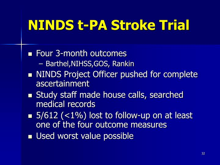 NINDS t-PA Stroke Trial