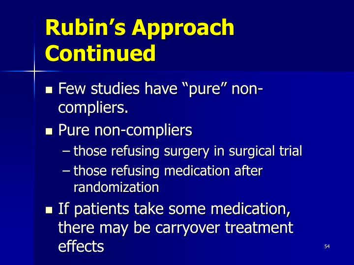 Rubin's Approach Continued