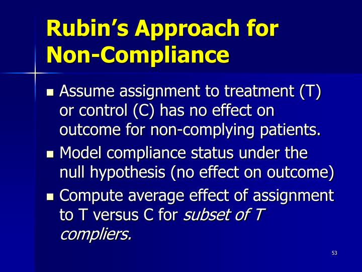 Rubin's Approach for Non-Compliance